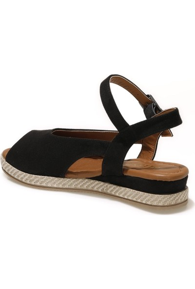 Miss F DS21035S 1fx Siyah Kadın Dolgu Topuklu Sandalet
