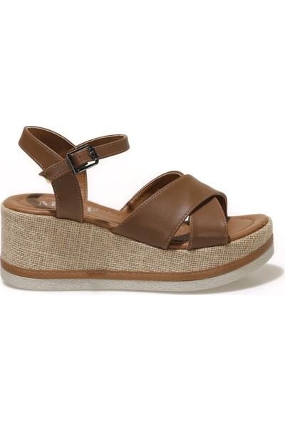 Miss F DS21037C 1fx Taba Kadın Dolgu Topuklu Sandalet