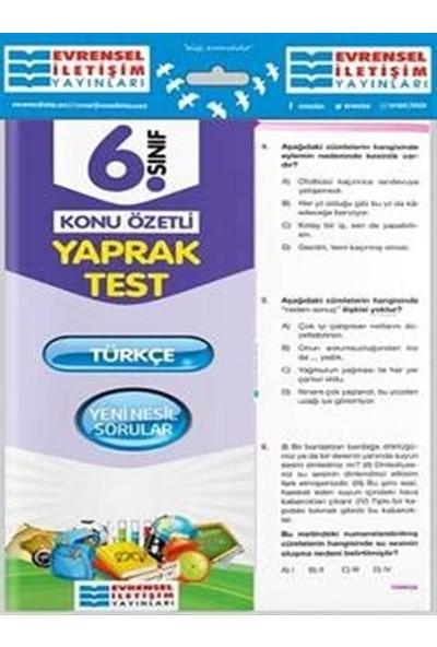 Evrensel 6. Sınıf Türkçe Yaprak Test