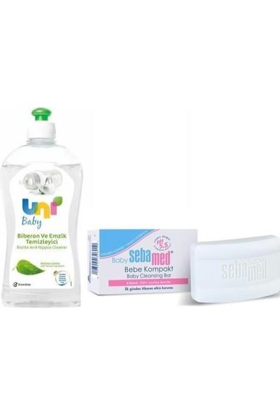 Uni Baby Süt Gıda Kalıntılarına Karşı Etkili Temizleyici 500 Ml+Sebamed Baby Bebe Kompakt 100 gr