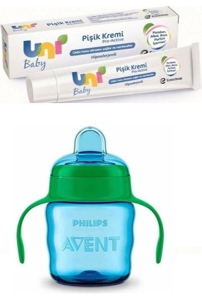 Uni Baby Pişik Kremi 30 Ml+Damlatmaz Mavi Alıştırma Bardağı