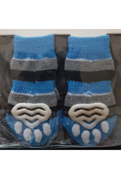 Little Friends Köpek Çorabı Large Mavi - Siyah - Gri Renk