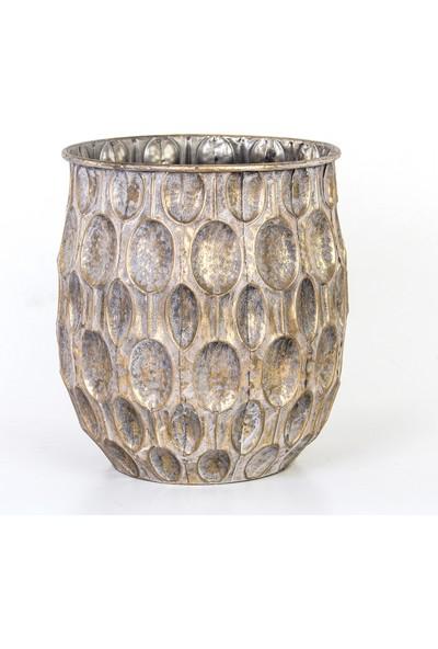 Euro Flora Dekoratif Metal Vazo 30X37,5 cm