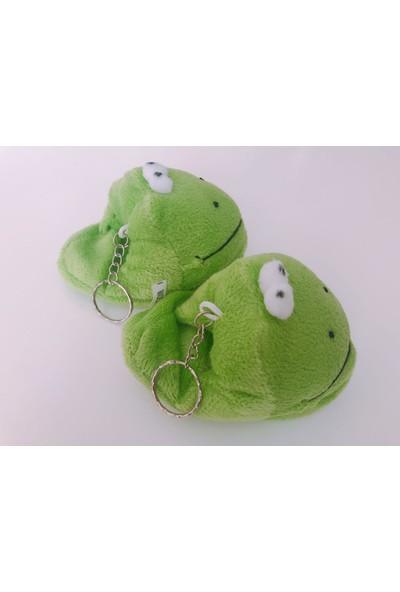 Kare Dekor Kurbağa Terlik Anahtarlık Çanta Süsü
