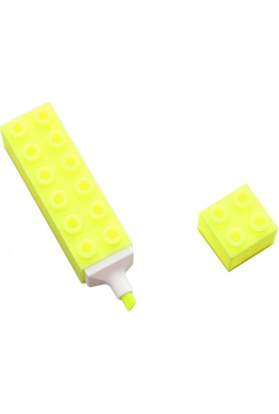 Taros 3277 Unickcolor Fosforlu Kalem LEGO Şekilli