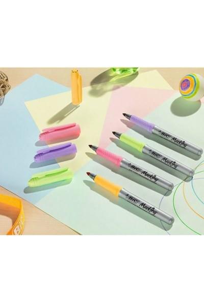 Big Marking 259692 Color Permanent Marker Pastel Renkler 6'lı Blister