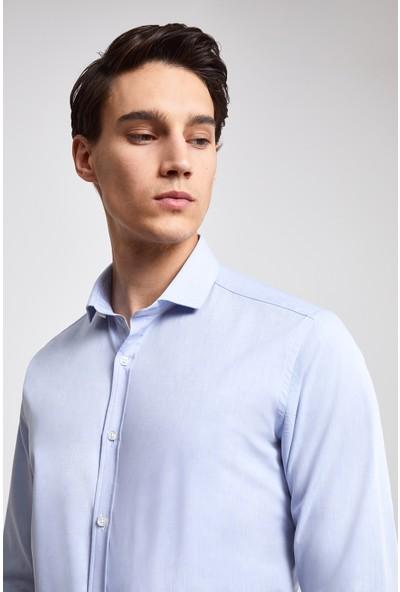 D'S Damat Twn Slim Fit Mavi Gömlek