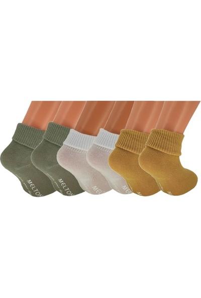 Calze Vita Kaymaz Tabanlı Çocuk Çorabı 0-1 Yaş 3 Adet