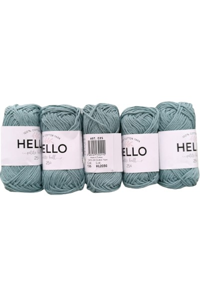 Hello Ip 5'li (Punch, Amigurumi) 25GR Mint Yeşili