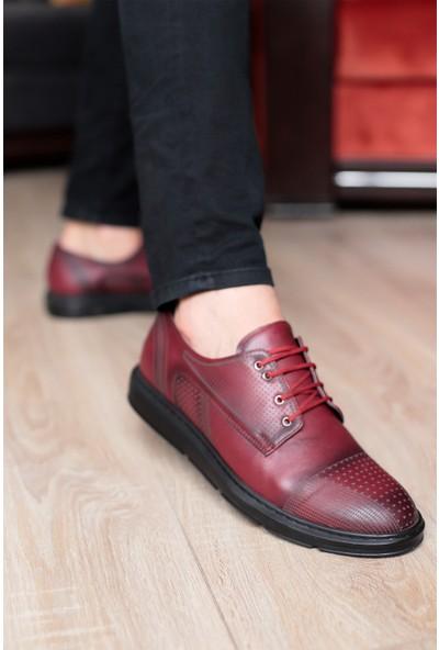 Tımer Erkek Bordo Renk Klasik Ayakkabı