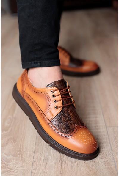 Tımer Erkek Taba Renk Günlük Klasik Ayakkabı