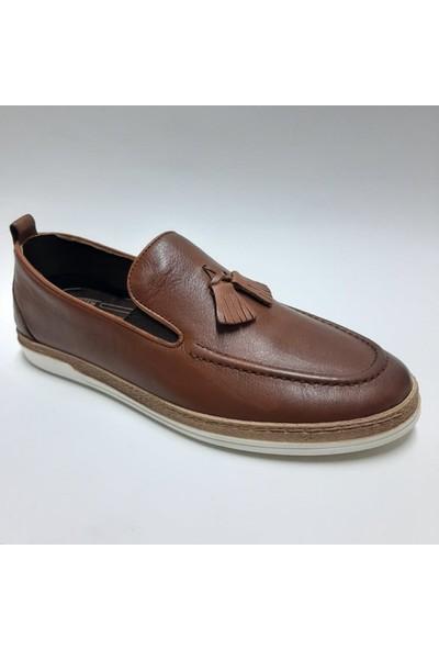 Bordolli Deri Casual Erkek Ayakkabı