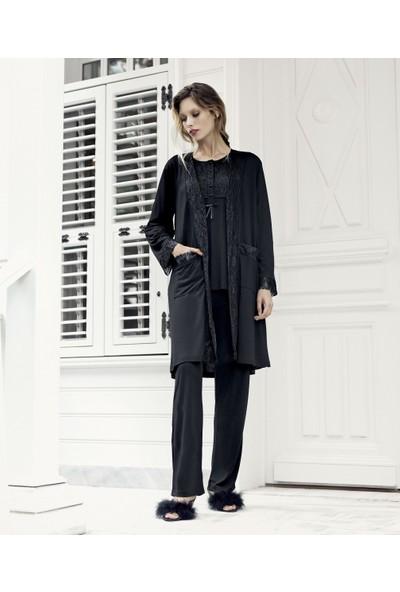 Artış Collection Artış 7300 3lü Bayan Pijama Takımı Siyah