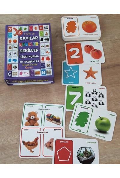Avda 5'li Okul Öncesi Eğitici Aktivite Oyun Seti Sayılar+Şekiller+Renkler+Ilişki Kurma+Zıt Kavramlar