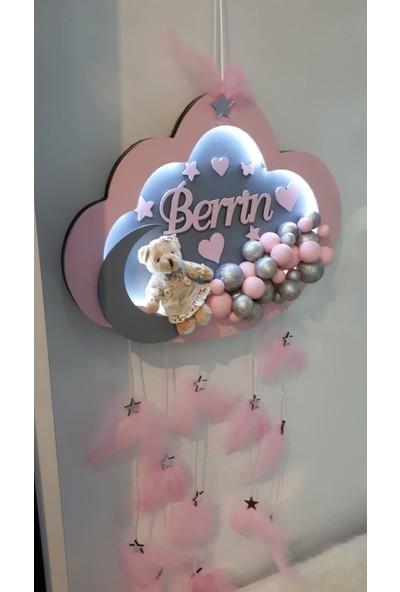 Bebek Stlye Bubble Tasarım Ahsap Bulut Sekili Kapı Süsü