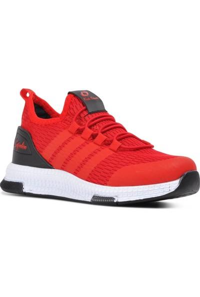 Lafonten 706 Kırmızı-Siyah Çocuk Spor Ayakkabı