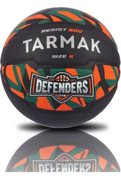 Tarmak 5 Numara Turuncu Yeşil Desenli Basketbol Topu 7-14 Yaş