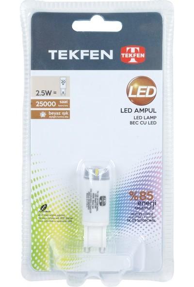 Tekfen LED Ampul 2,5W 220V 6000K G9