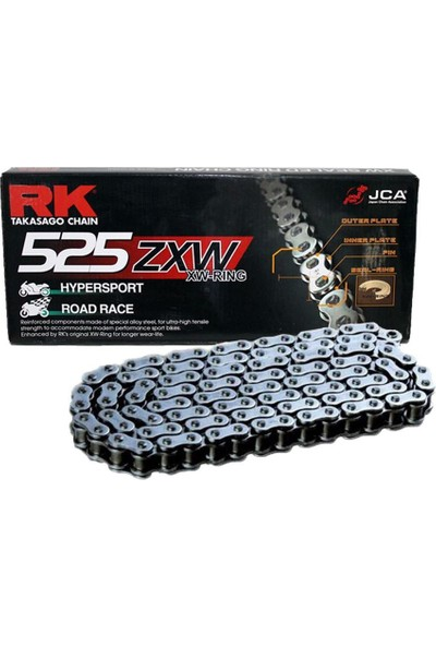 RK Honda Cbf 600 N Rk Xw-Ring Zincir 525 Zxw 124L(2008-2010)