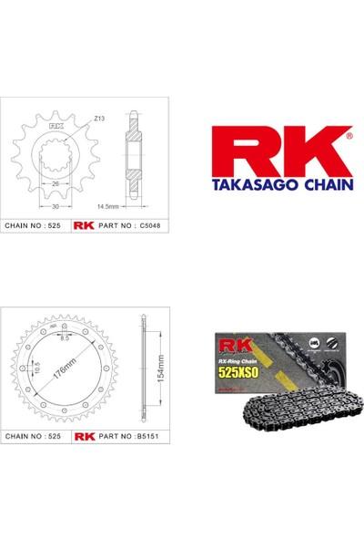 RK Honda Vfr 800 x Crossrunner Abs Rk X-Ring Zincir Dişli Set 525 XSO-16/43T(2015-2019)
