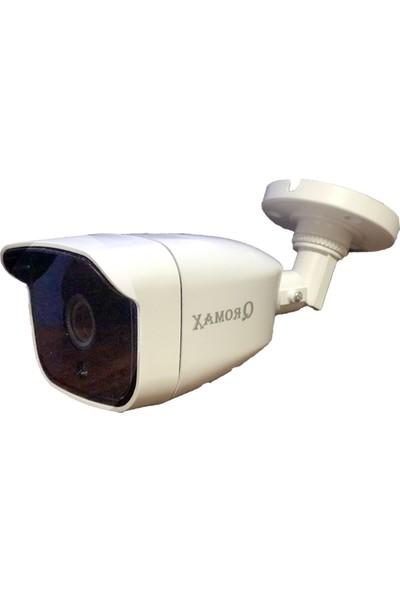 Qromax Pro 4236 8 'li 5 Megapiksel Sony Lens 1080P Sensör Plastik Kasa Güvenlik Kamerası Seti