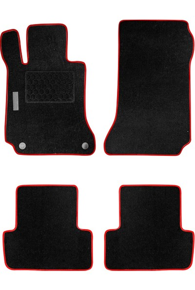 Arabamaraba Seat Altea 2004 Sonrası / Topuk Korumalı Halı Paspas Siyah-Kırmızı / 1