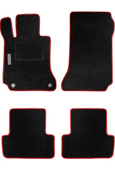 Arabamaraba Audi A4 2001 - 2007 / Topuk Korumalı Halı Paspas Siyah-Kırmızı / 1