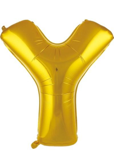 Asya Aksesuar 1 Metre Altın Renk Balon Y Harfi 40 Inc Parti Malzemesi