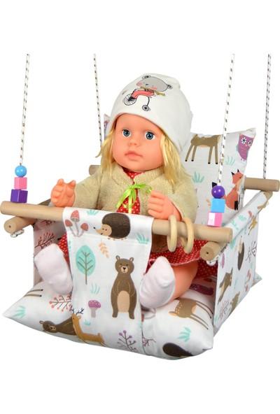 Berra Hayat Ev Tipi Portatif Kız&erkek Bebek Çocuk Salıncak - Mutlu Orman
