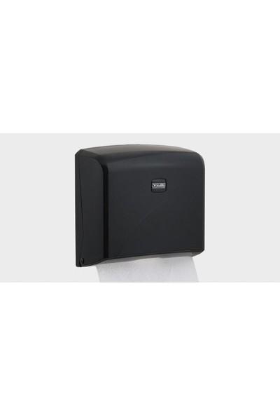 Vialli Z Katlı Kağıt Havlu Dispenseri Maks. Kağıt Genişliği 22 cm (Siyah)