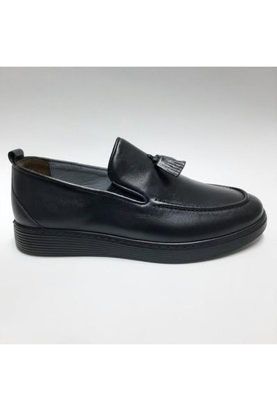 Bordollı Deri Casual Erkek Ayakkabı
