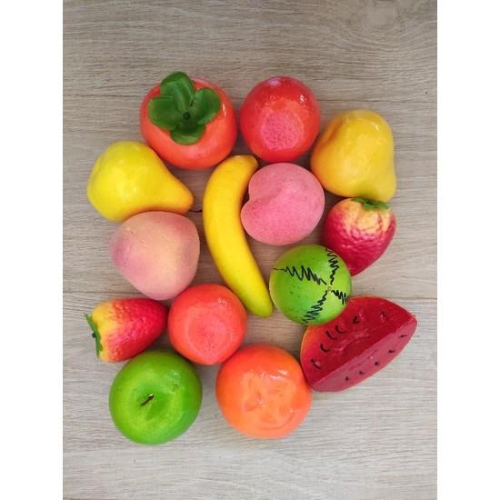Avda 14 Adet Yapay Meyve Dekoratif Meyve Köpük Meyve