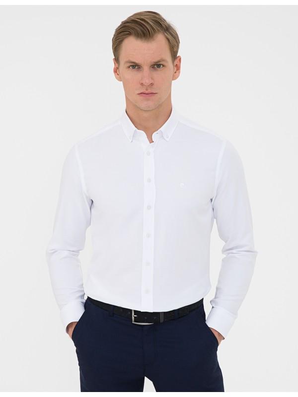 Pierre Cardin Beyaz Slim Fit Gömlek 50240379-VR013