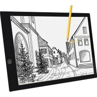 Tikteck A4 LED Ultra Ince Animasyon Çizgi Film Portre Dövme Grafik Çizim Tableti