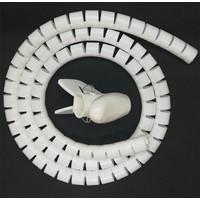 Dlax 1,5 Metre Kablo Toplayıcı Kablo Düzenleyici Spiralli Toplama Kablosu Beyaz