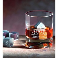 BK Kişiye Özel Viski Bardağı ve Viski Taşı Seti-12