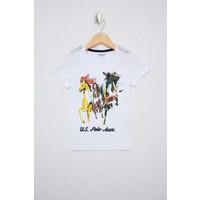 U.S. Polo Assn. Erkek Çocuk Beyaz T-Shirt 50238521-VR013