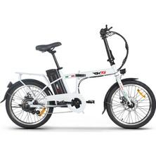 Rks DC15 Elektrikli Şarjlı Lityum Bataryalı Akülü Katlanabilir Bisiklet - Beyaz