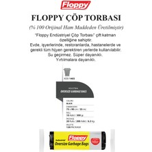 Floppy Endüstriyel Battal Boy Çöp Torbası 75X90 cm 300 gr 10'lu 20 'li