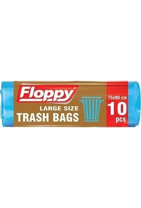 Floppy Battal Boy Çöp Torbası 75X90 cm 70 Lt 10'lu 110 gr 25'li