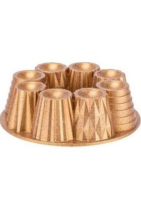 Taç Kupa Döküm Kek Kalıbı Gold