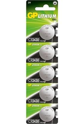 GP Pil Düğme 3V 2430 Lityum 5'li Paket Gp CR-2430