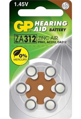GP Kulaklık Pili 312 No 6 Adet GP-ZA312F SK.2022