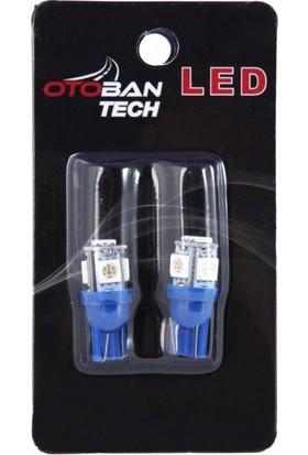 Otoban T10 Park-Plaka-Tavan LED Ampül Dipsiz 5 LED 12 V Mavi Otoban
