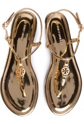 Tory Burch Emmy Flat Sandal 65178 Gold 701