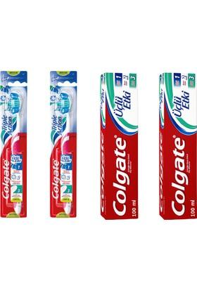 Colgate Agız Bakım Hijyen Seti 2 Adet 100 Ml Diş Macunu 2 Adet Diş Fırçası