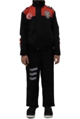 Uğur Böceği Çocuk Polis Kostümü Yunus Polis Kıyafeti Çocuk Kostüm