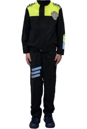 Uğur Böceği Çocuk Trafik Polisi Kostümü Polis Kıyafeti Çocuk Kostüm