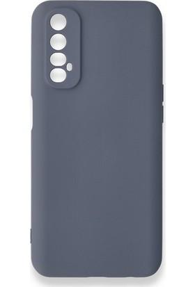 Moserini Oppo Real Me 7 Lansman Telefon Kılıfı - Arka Kapak- Pürüzsüz Soft Yüzey - Gri