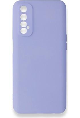 Moserini Oppo Real Me 7 Lansman Telefon Kılıfı - Arka Kapak- Pürüzsüz Soft Yüzey - Lila